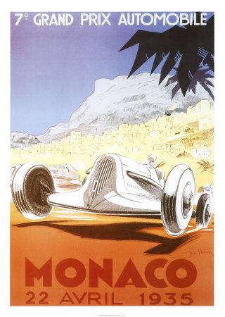 7th Grand Prix Automobile, Monaco, 1935 Art by Geo Ham
