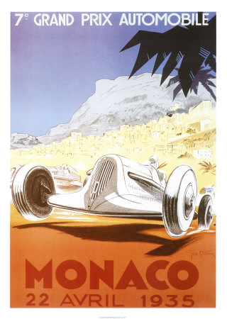 7th Grand Prix Automobile, Monaco, 1935 Art Print