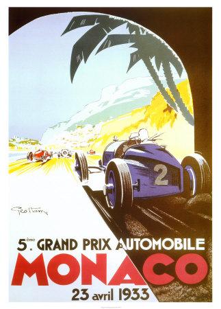 Monaco - 1933 Kunstdrucke von Geo Ham