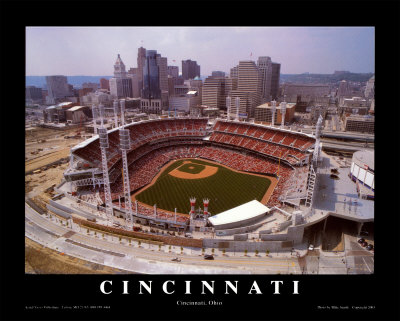 Cincinnati, Ohio - Baseball Art by Mike Smith