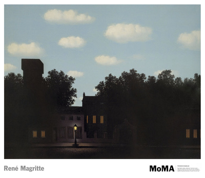 L'Empire des Lumieres Print by Rene Magritte
