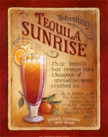 Tequila Sunrise Reproduction d'art