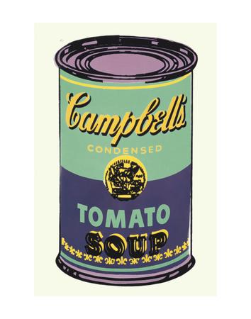 Lattina di zuppa Campbell's, 1965 (verde e viola) Poster di Andy Warhol