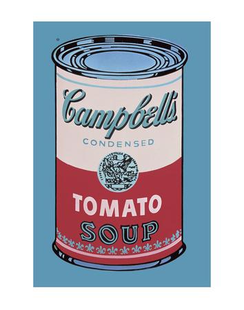 Plechovka Campbell's Soup, 1965 (růžová a červená) Umělecká reprodukce