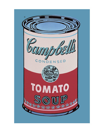 Campbell's Soup Can, 1965 (Pink and Red) Art Print