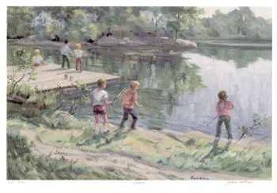 Fishin` Limited Edition by Joyce Kellock