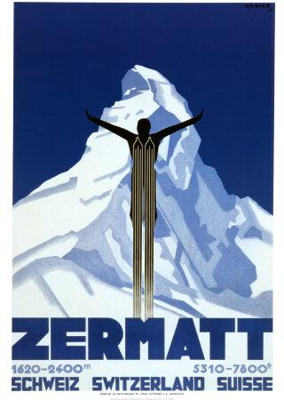 Zermatt Plakater af Pierre Kramer