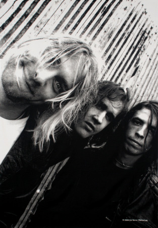 Nirvana - Group Shot Fabric Poster