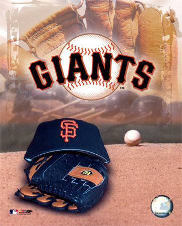 San Francisco Giants - '05 Logo / Cap and Glove Photo