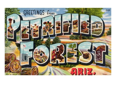 Greetings from Petrified Forest, Arizona Giclee Print