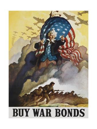 Buy War Bonds Poster Gicléetryck