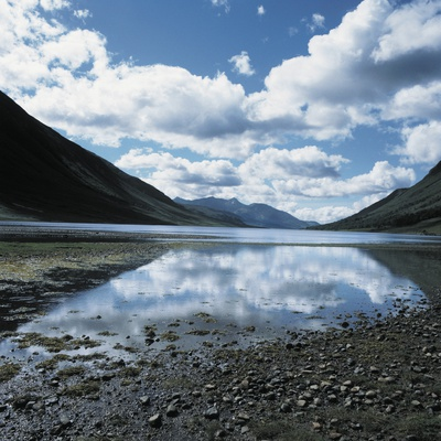 Clouds Reflected in Loch Etive Fotografie-Druck