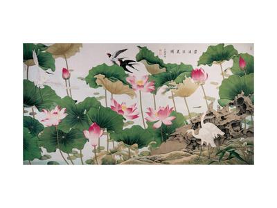 On Lotus Pond Giclee Print by Hsi-Tsun Chang