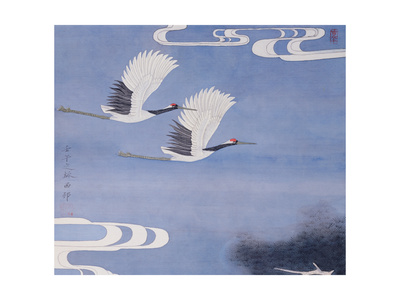 Twin Cranes Giclee Print by Hsi-Tsun Chang