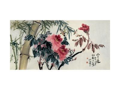 Peonies Giclee Print by Haizann Chen