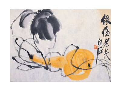 Gourd Giclee Print by Baishi Qi