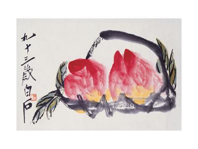 Peaches Giclee Print by Baishi Qi