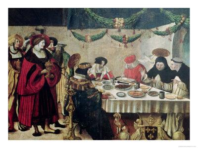 St. Thomas Aquinas (1214-74) and Louis IX (1215-70) Premium Giclee Print by Niklaus Manuel