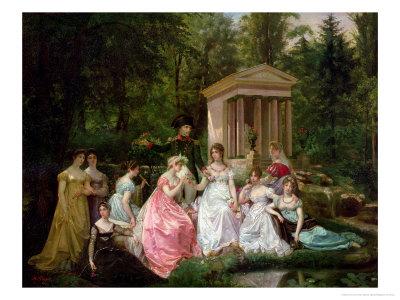 The Rose of Malmaison, circa 1867 Premium Giclee Print by Jean Louis Victor Viger du Vigneau