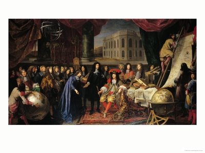 Jean-Baptiste Colbert (1619-1683) Presenting the Members of the Royal Academy of Science Premium Giclee Print by Henri Testelin