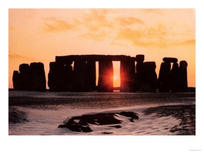 Stonehenge, Winter Solstice Premium Giclee Print
