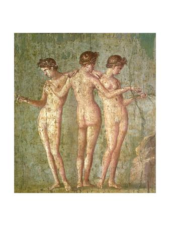 Three Graces, from Pompeii Premium Giclee Print