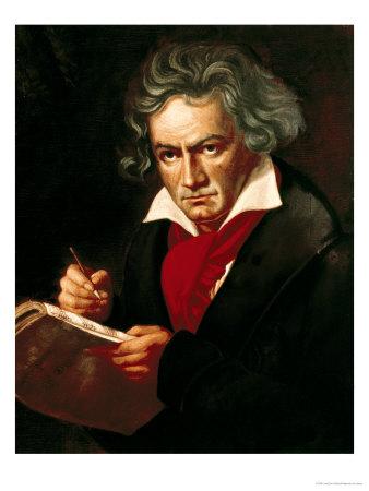 "Ludwig Van Beethoven (1770-1827) Composing His ""Missa Solemnis"" Premium Giclee Print by Joseph Karl Stieler"