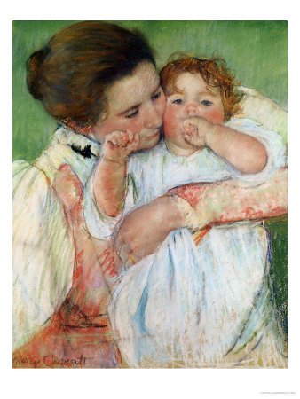 Mother and Child, 1897 Premium Giclee Print by Mary Cassatt