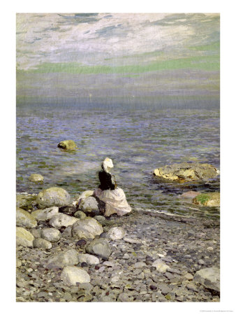 On the Shore of the Black Sea, 1890s Premium Giclee Print by Konstantin A. Korovin