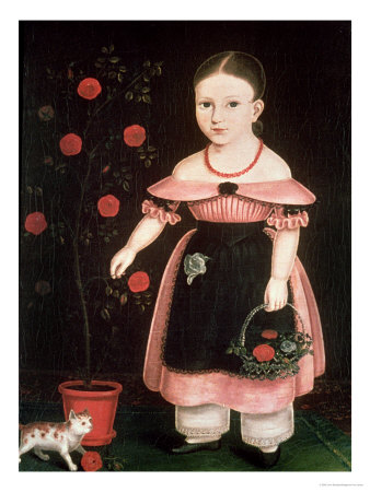 Little Girl in Lavender Premium Giclee Print by John Bradley