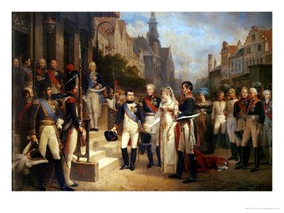 Napoleon Bonaparte (1769-1821) Receiving Queen Louisa of Prussia (1776-1810) at Tilsit Premium Giclee Print by Nicolas Louis Francois Gosse