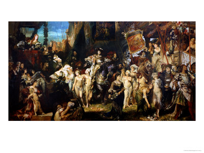 The Entrance of Emperor Charles V (1500-58) into Antwerp in 1520, 1878 Giclee Print by Hans Makart