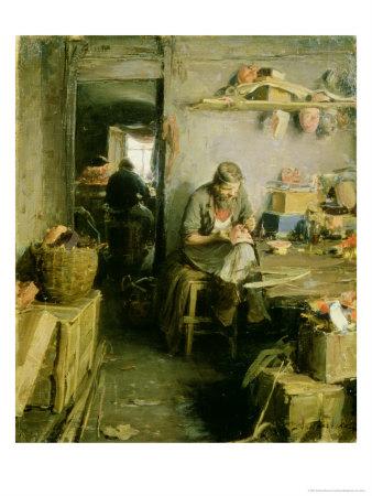 In the Mask Studio, 1897 Premium Giclee Print by Abram Efimovich Arkhipov