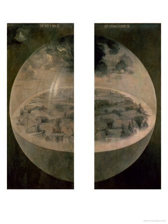 """The Creation of the World, Closed Doors of the Triptych """"The Garden of Earthly Delights,"""" c. 1500 Premium Giclee Print by Hieronymus Bosch"""