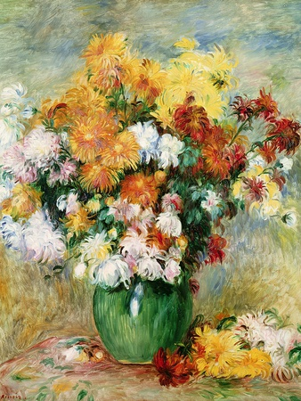Bouquet of Chrysanthemums, circa 1884 Giclee Print by Pierre-Auguste Renoir