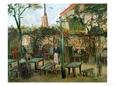 Pleasure Gardens at Montmartre, c.1886 Premium Giclee Print by Vincent van Gogh