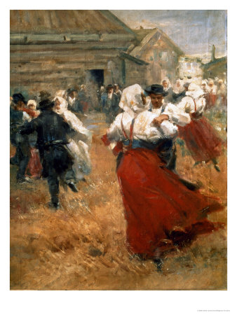 Country Festival, 1890s Premium Giclee Print by Anders Leonard Zorn