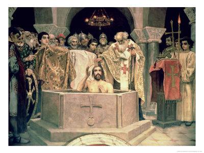 The Christening of Grand Duke Vladimir (circa 956-1015), 1885-96 (Mural) Giclee Print by Victor Mikhailovich Vasnetsov