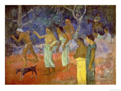 Scene from Tahitian Life, 1896 Premium Giclee Print by Paul Gauguin