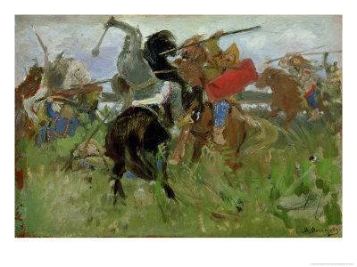 Battle Between the Scythians and the Slavonians, 1879 Giclee Print by Victor Mikhailovich Vasnetsov