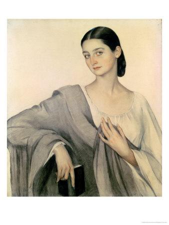 Portrait of Countess Eliso Dadiani, 1919 Premium Giclee Print by Savelij Abramovich Sorin
