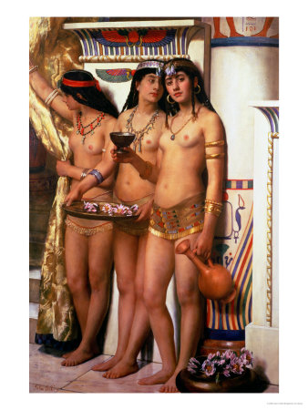 Pharaoh&#39;s Handmaidens Giclee Print by John Collier at AllPosters.