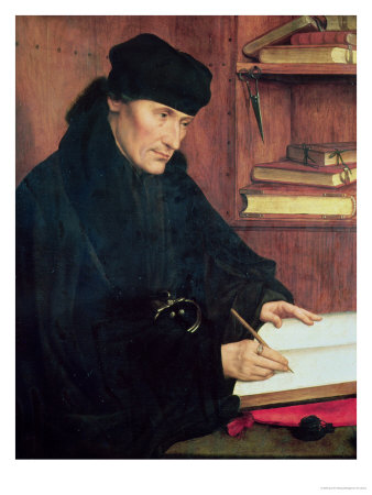 Portrait of Erasmus of Rotterdam (1466-1536) Premium Giclee Print by Quentin Metsys