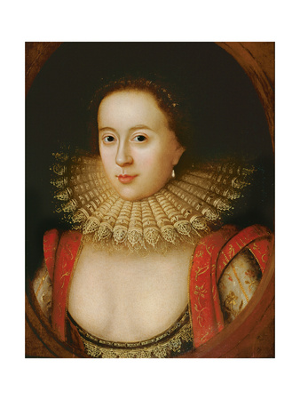Portrait of Frances Howard (1590-1632) Countess of Somerset, circa 1615 Premium Giclee Print by William Larkin