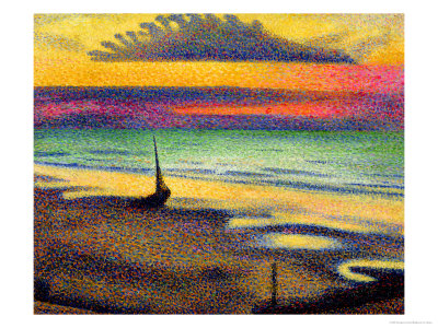 The Beach at Heist, 1891-92 Premium Giclee Print by Georges Lemmen