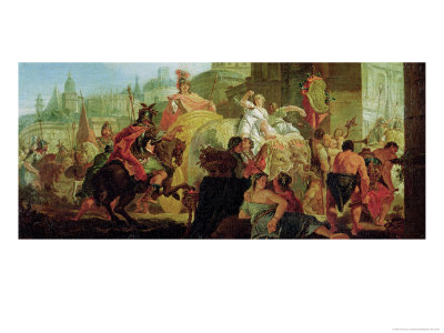 The Entrance of Alexander the Great (356-323 BC) into Babylon Giclee Print by Francesco Fontebasso