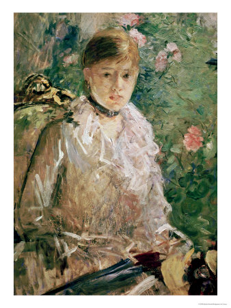 Portrait of a Young Lady Premium Giclee Print by Berthe Morisot