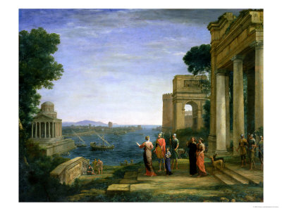 Aeneas and Dido in Carthage, 1675 Premium Giclee Print by Claude Lorrain