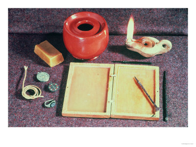 Roman Writing Materials Premium Giclee Print