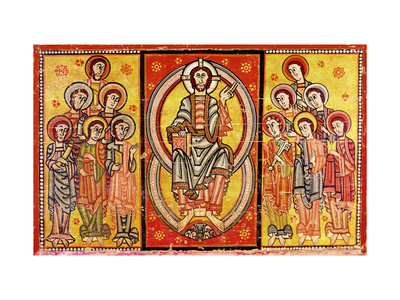 Christ in Majesty Surrounded by the Twelve Apostles Premium Giclee Print